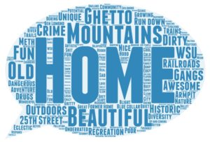 More than 600 people shared the first word that came to mind when they thought of Ogden. The larger the word in the cloud, the more times people gave that answer.