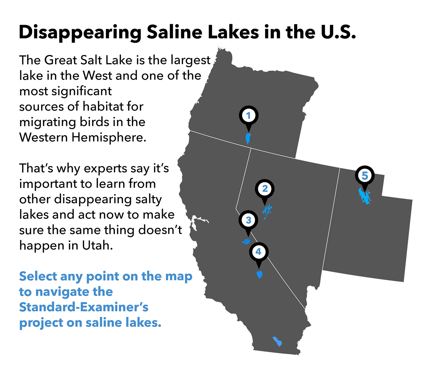 Disappearing Saline Lakes in the U.S.